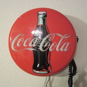 VINTAGE COCA-COLA DISC WALL PHONE