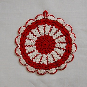 Vintage Crochet Pot Holder #14