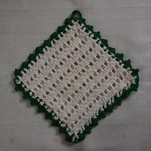Vintage Crochet Pot Holder #11